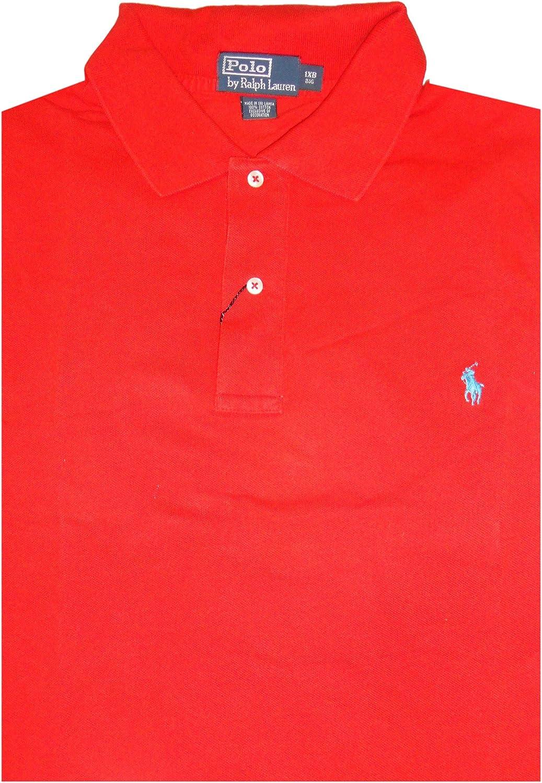 Ralph Lauren Polo Mens Big & Tall Classic Fit Mesh Short Sleeve Shirt Poppy