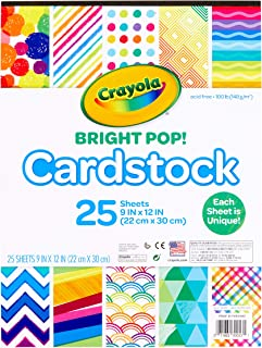 Crayola Cardstock Paper, Colored Cardstock, 25 Count