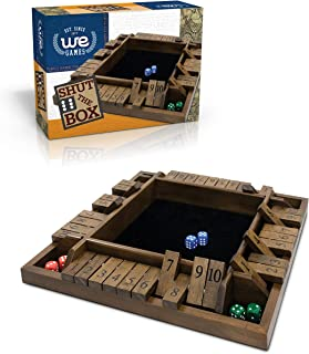 WE Games Travel Size 4-Player Shut The Box - 8 inches