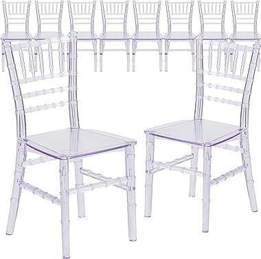 Flash Furniture 10 Pack Kids Crystal Transparent Chiavari Chair