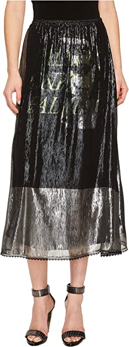 McQ - Lurex Fluid Gather Skirt