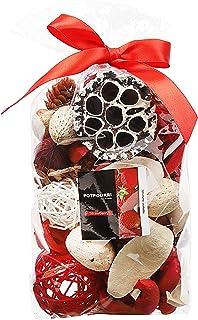 Qingbei Rina Strawberry Scent Summer Potpourri Dried Flowers, Perfume Sachet, Decorative Bag and Gift, Rattan Balls, Lotus...