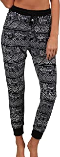 Women Athletic Pants Color Block Casual Tie Waist Yoga Jogger Pants for Summer and Winter