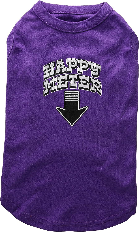 Dog   Cat   Pet Charms Happy Meter Screen Printed Dog Shirt Purple XL (16)