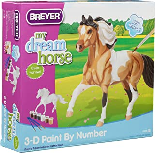 Breyer 3D Paint by Number Pinto Horse Craft Activity Set, Multicolor