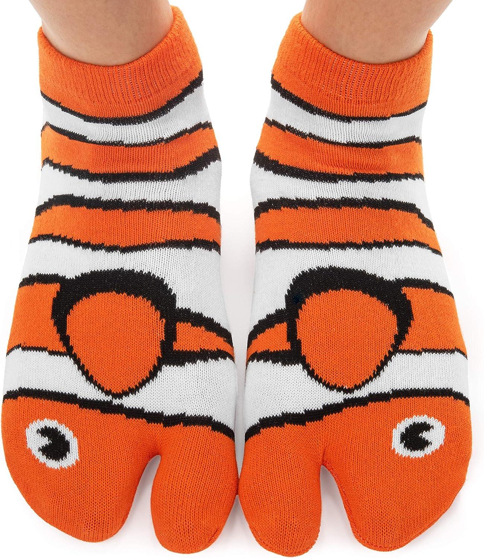 Funny Novelty Socks - Fishy Feet, Perfect Stocking Stuffer, Secret Santa Gift, White Elephant Gift Idea - Unisex - Great Gift for Teenagers, Men or Women : Clothing, Shoes & Jewelry