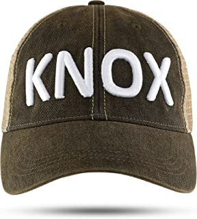 Knox Knoxville Tennessee Trucker hat Baseball hat Black 3D Embroidered