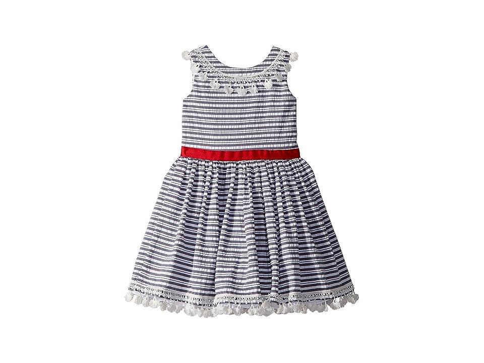 fiveloaves twofish Nantucket Dress (Toddler/Little Kids/Big Kids) (Indigo) Girl