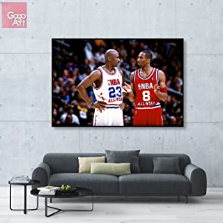 GoGoArt ROLL Canvas print wall art panorama photo big picture poster modern (no framed no stretched not oil painting) nba Kobe Bryant all star Michael Jordan basketball mvp A-0082-1.5 (24 x 36 inch)