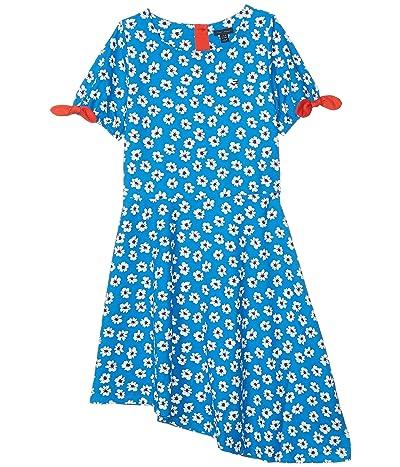 Tommy Hilfiger Kids Asymmetrical Floral Dress (Big Kids) (Directoire Blue) Girl