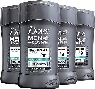 Dove Men+Care Antiperspirant Deodorant, Stain Defense Clean, 2.7 Ounce (Pack of 4)