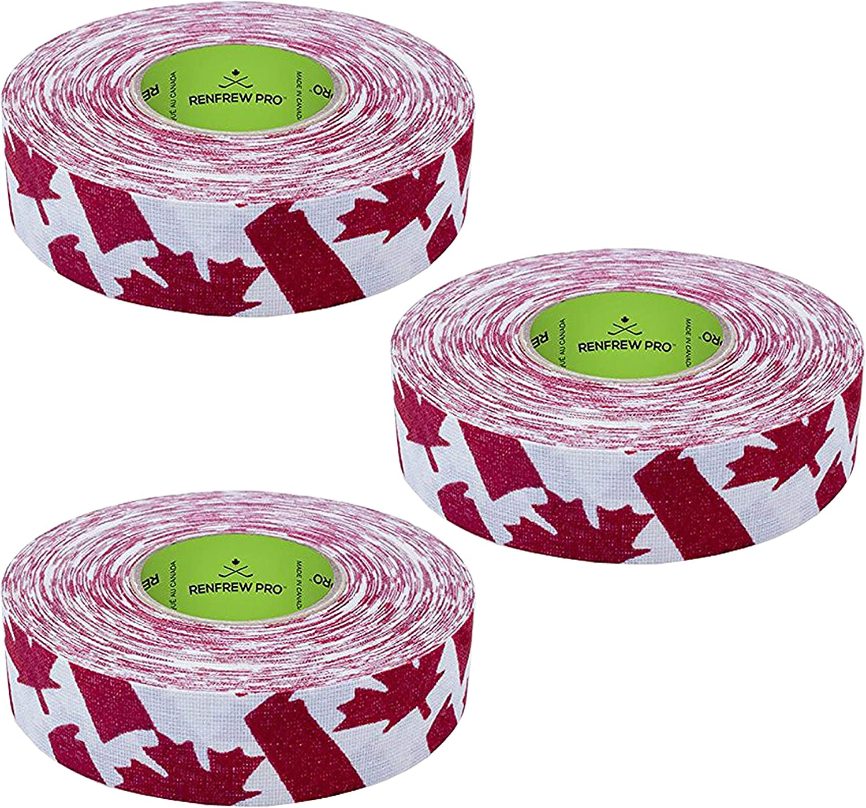 Renfrew Patterned Hockey Tape 3-Pack Color Choice for Stick//Shaft//Bat 1 Wide