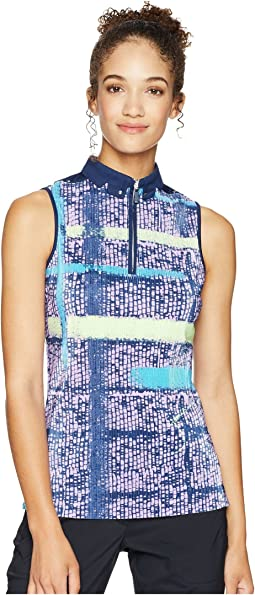 Crunchy Mad Plaid Print Sleeveless Top