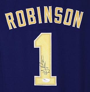 e550269cb39 Glenn Robinson III Michigan Wolverines Signed Autographed Blue #1 Jersey JSA  COA