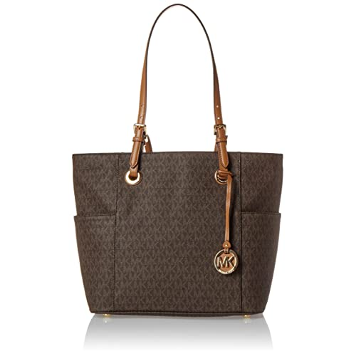 d499023760e8a Michael Kors Women s Jet Set East West Signature Bag Leather Top-Handle Tote