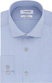 Men's Dress Shirt Non Iron Slim Fit Stretch Stripe