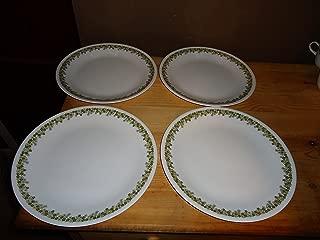 Corelle Spring Blossom (Crazy Daisy) Dinner Plates - Four (4) Plates