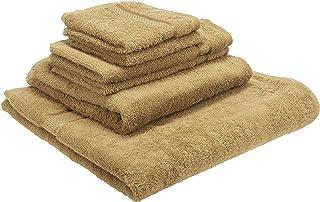 Indigo Soft Towel 6 Piece Gift Set, Cotton, Beige, H33.2 x W33.8 x D6 cm