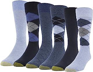 Gold Toe mens Campbell Crew Socks, 6 Pairs Crew Socks (pack of 6)