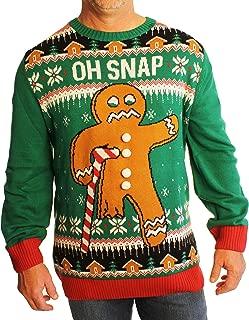 Men's Big and Tall Gingerbread Man Oh Snap Xmas Sweatshirt