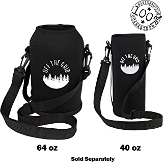 Off the Grid 64 oz & 40 oz Large Water Bottle – Growler Carrier Sleeve