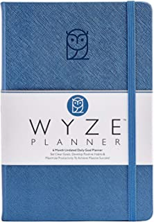 $24 » Wyze Planner - Goal Setting Planner to Increase Productivity and Achieve Personal and Business Goals. 6 Month Undated Dail...