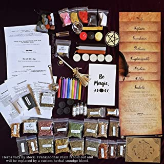 Large Wicca Starter Kit, Herb starter kit, Wicca, Wicca Supplies, Witchcraft, Wiccan Altar Supplies, Wicca for beginners, witchcraft, Spell Candles, Wicca Herbs, Wicca decor