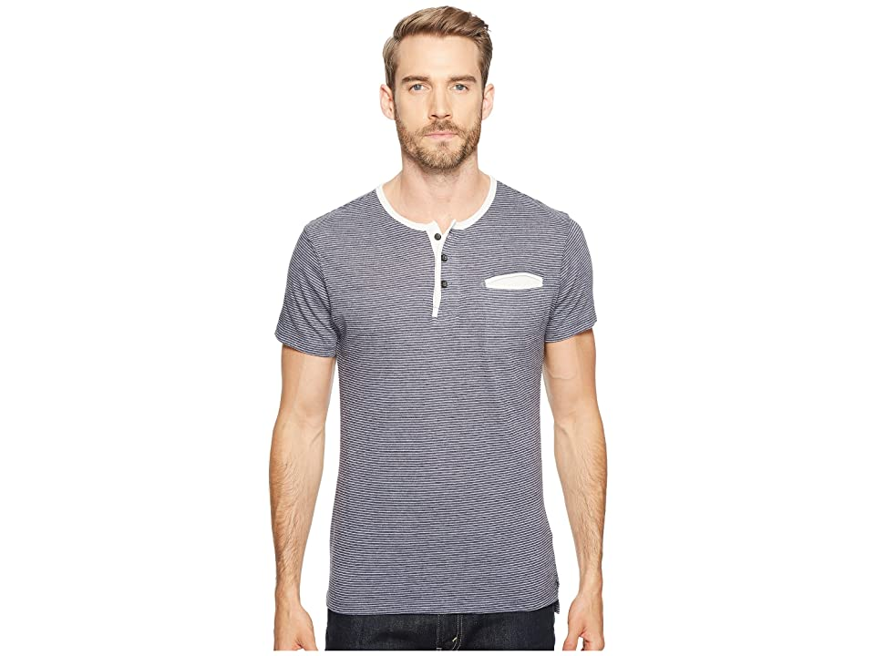 Alternative Eco Jersey Yarn-Dye Stripe Offshore Henley (Midnight Seaside Stripe) Men