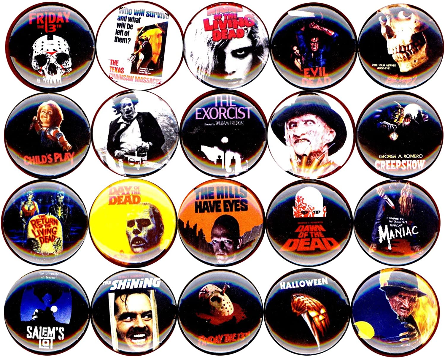 Horror Movie Buttons pins Badges 20 New 1