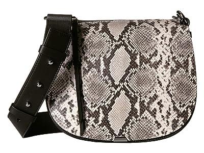 AllSaints Sliver Round Crossbody (Natural) Handbags