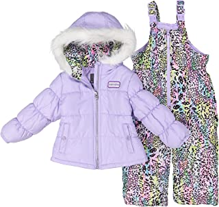 Girl's 2-Piece Heavy Weight Insulated Snowsuit (Lavender, 6X)