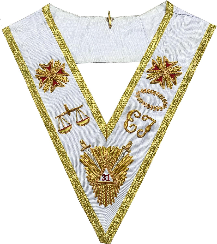 Masonic Regalia Rose Croix Inexpensive Ranking TOP8 Collar 31th Degree