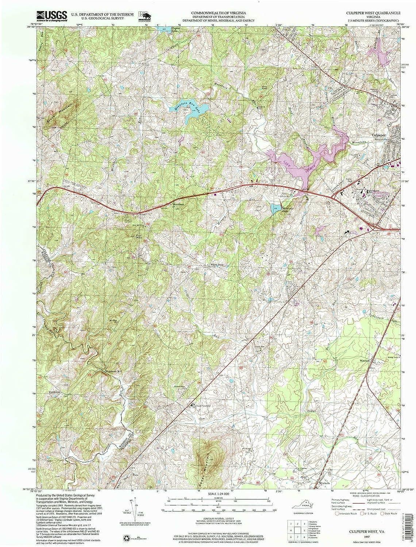 Culpeper West VA topo map, 1 24000 Scale, 7 5 X 7 5 Minute