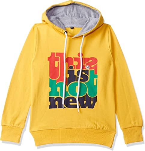 T2F Boys' Chest Printed Hooded Sweatshirt