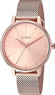 Nixon Women's Kensington Milanese Japanese-Quartz Watch with Stainless-Steel Strap, Rose Gold, 16 (Model: A1229897)