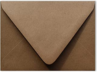 Grocery Bag Brown 80lb Contour Euro Flap 25 Pack A6 Envelopes 4-3/4 x 6-1/2 for 4-1/2 x 6-1/4 Greeting Cards Invitations A...