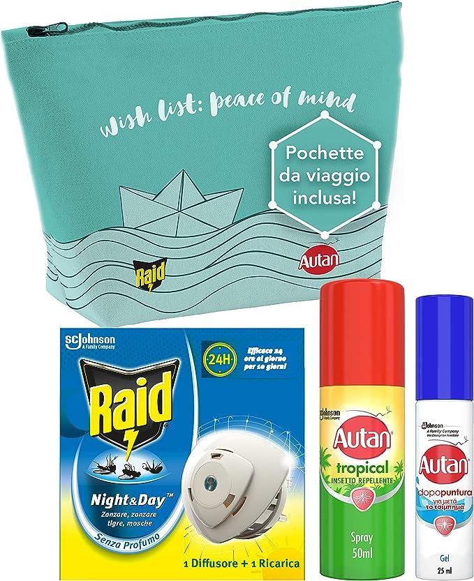 34 opinioni per Kit da viaggio contro gli insetti: Raid Night & Day, Autan Tropical Mini Spray