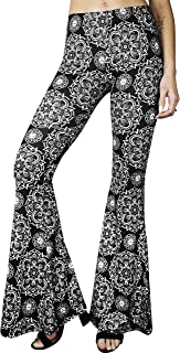 Comfy Lightweight Stretch Vintage Palazzo 70s Bell Bottom Flare Lounge Yoga Pants