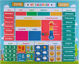 My First Daily Magnetic Calendar   Weather Station for Kids   Moods and Emotions   Preschool Learning Toys   Classroom Calendar Set  Usable on Wall or Fridge