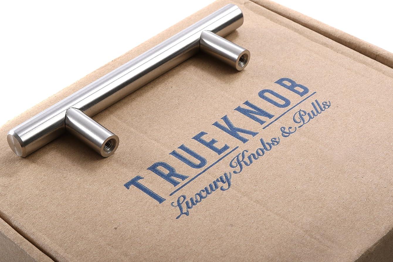 (25 Pack) TrueKnob SOLID Stainless Steel Cabinet Pull Hardware | Brushed Satin Nickel Finish | 3