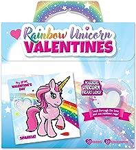 Kangaroo Rainbow Unicorn Valentine's Cards (28-Count)