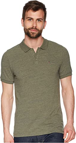 Polo Shirt Melange with Short Sleeves