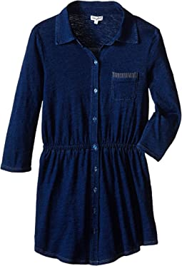 Splendid Littles - Indigo Knit Shirt Dress (Big Kids)
