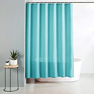 Amazon Brand - Solimo Nightshade Polyester Shower Curtain, 72 inch x 79 inch, Blue