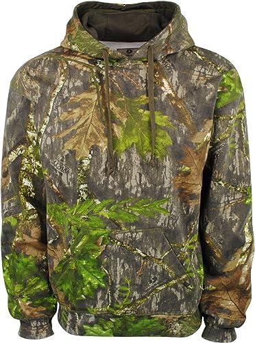 Mens Hunters Oak Camo Overhead Hoody Gents Fishing Shooting Cotton Hooded Jumper