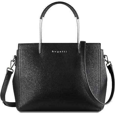 Bugatti Lina Shopper Handtasche Damen, Große Damenhandtasche Schultertasche – Schwarz