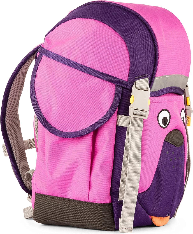Affenzahn Schulrucksack Kinderrucksack Kitarucksack mit Brustgurt für 3-5 jhrige Jungen und Mdchen im Kindergarten Walki Winnie Wuff - Lila