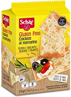 Dr. Schar Gluten Free Crackers with Rosemary, 210g