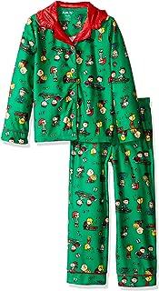Girls' 2pc Holiday Sleepwear Coat Set