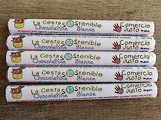 40 CHOCOLATINAS BLANCAS DE COMERCIO JUSTO DE 30 GRS CESTA SOSTENIBLE.